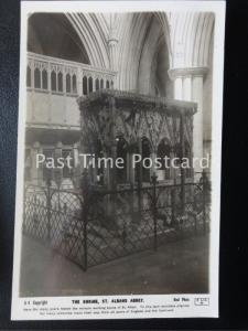 c1920's RP - The Shrine, St. Albans Abbey - miracle working bones of St. Alban