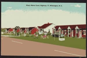 North Carolina WILMINGTON King's Motor Court on Hwy17, 5 miles North LINEN
