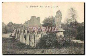 Old Postcard Compiegne Ruins Tour Jeanne d'Arc