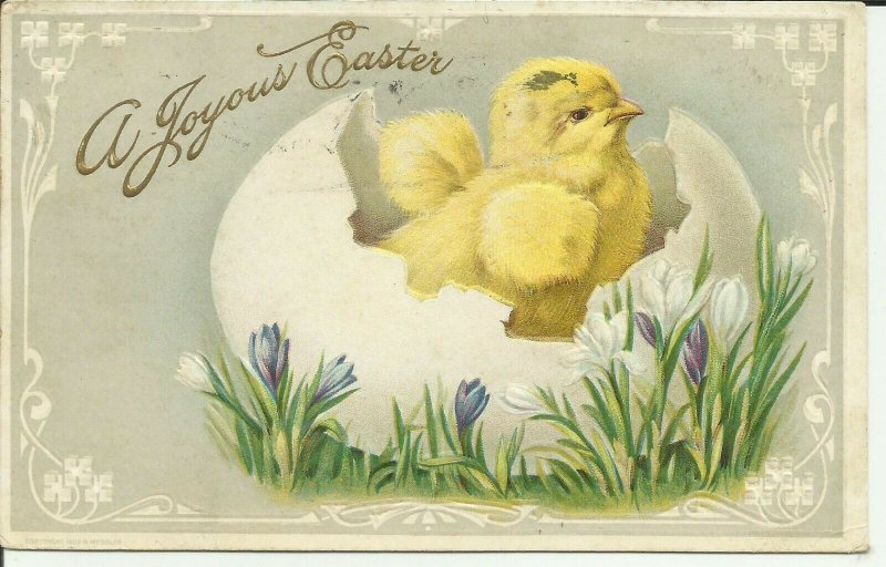 A Joyous Easter  --EMBOSSED