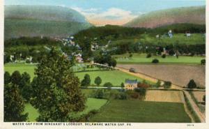 PA - Delaware Water Gap from Rinehart's Lookout