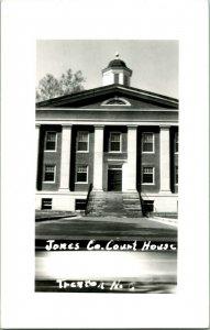 Vtg Postcard RPPC - Jones County Court House - Trenton NC North Carolina Unused