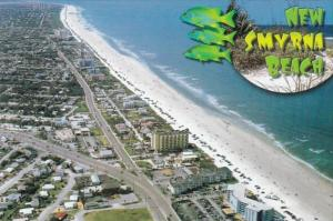 Florida New Smyrna Beach Aerial View Looking North Showing The Y