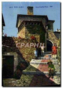 Old Postcard Eze An Old Street Children