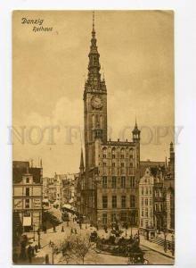 271086 POLAND DANZIG Gdansk Town Hall Vintage postcard