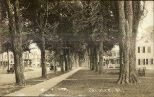 Chester VT Sidewalk Homes c1910 Real Photo Postcard