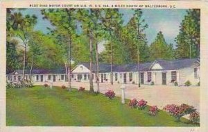 South Carolina Walterboro Blue Bird Motor Court