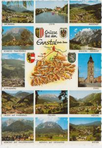 Grusse aus dem Ennstal, Austria, 1974 used Postcard