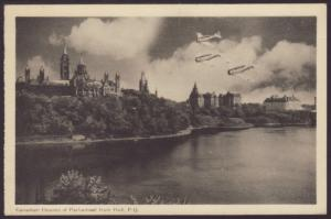 Parliament From Hull,Quebec,Canada Postcard