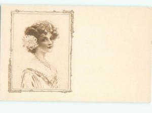 Divided-Back PRETTY WOMAN Risque Interest Postcard AA7879
