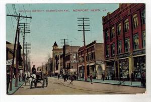 1832  VA  Newport  News   Shopping District  Washington Ave.