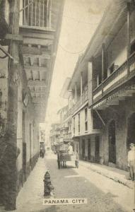 panama, PANAMA CITY, Street Scene, Horse Cart (1920s)