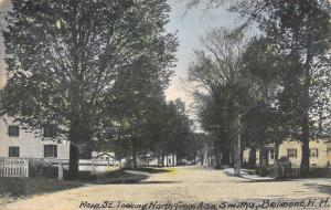 Belmont NH 100 Block Main St~White Houses, Picket Fences~The American Dream 1910