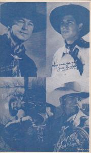 Cowboy Arcade Card William Boyd Jack Randall Gene Autry Rod Cameron