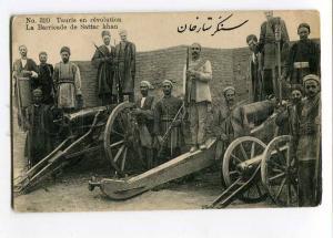 258075 Iran PERSIA TAURIS revolution Sattar Khan barricade gun