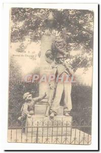 Paris (5th) Old Postcard Statue Charlet