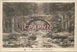 Old Postcard Gerardmer Pont des Fees