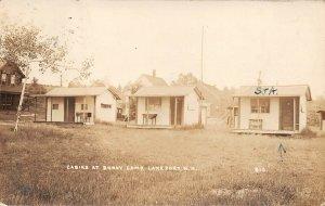 LPS66 Lakeport New Hampshire Cabins at Bundy Camp Postcard RPPC