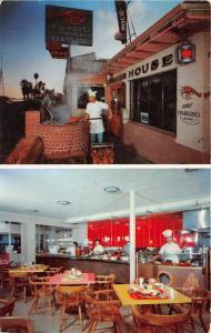 Santa Barbara California~Lobster House Seafood Restaurant~Chef @ Work~1950s Pc
