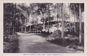New York Saint Josephs Road To Grotto And Farm Albertype