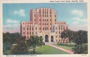 Texas Amarillo Potter County Court House Curteich