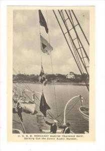 U.S.S.B. Merchant Marine Training Ship, USA, 1910-30s   Striking out the Calv...