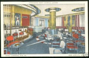 1949 HOTEL LAWRENCE Erie Pa Pennsylvania Postcard INTER