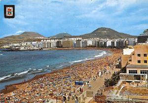 Spain Las Palmas de Gran Canaria, Las Canteras Beach Playa Promenade