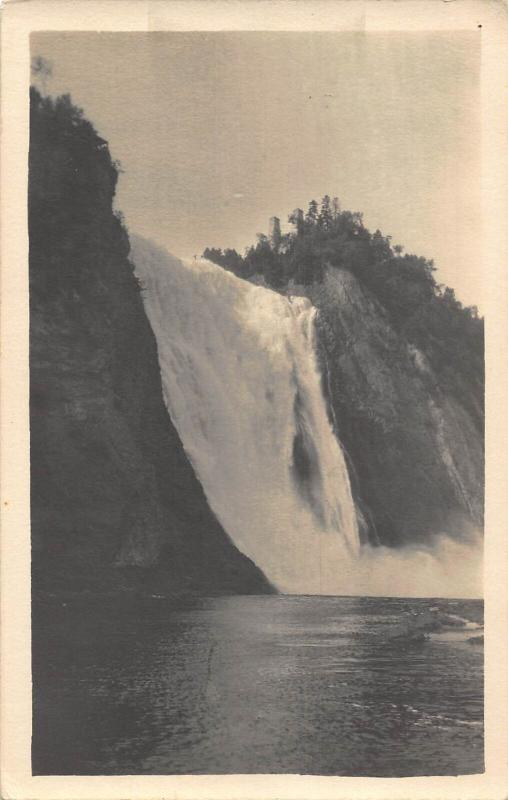 Canada Montmorency Falls Quebec Waterfall Postcard