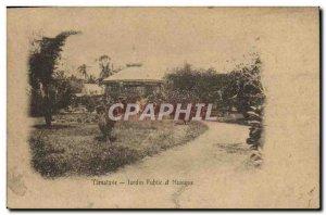 Old Postcard Tamatave Public Garden Music