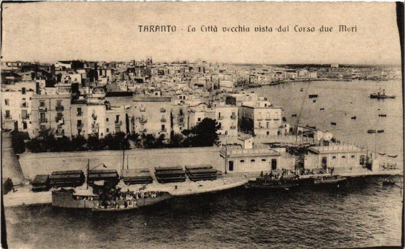 CPA AK TARANTO La Citta Vecchia vista dal Corso due Mari. ITALY (531727)
