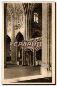 Old Postcard Brou Church Bourg La Nef