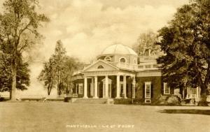 VA - Charlottesville. Monticello, Home of President Thomas Jefferson