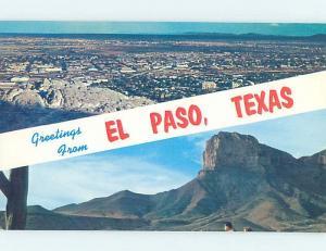 Unused Pre-1980 PANORAMIC VIEW El Paso Texas TX i0161