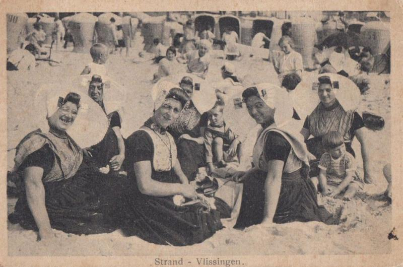 Vlissingen Strand Dutch Transvestite Transgender Gay Interest Beach Old Postcard