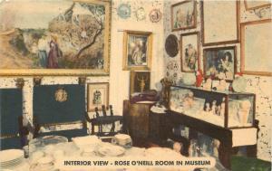 Branson Missouri~Hills Memorial Museum~The Rose O'Neill Room~1940~Postcard~