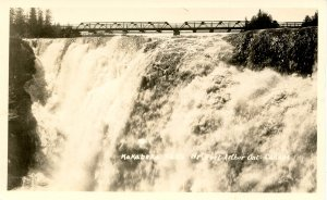 Canada - Ontario, Port Arthur. Kakabeka Falls, Bridge.  RPPC