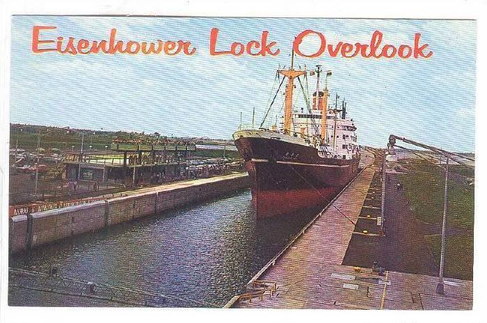Overlook, Eisenhower Lock, Massena, New York,  40-60s