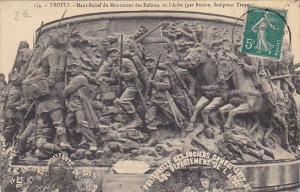 France Troyes Haut Relief du Monument des Enfants de l'Aube 1911