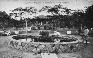 Mozambique Maputo Lourenço Marques Town Gardens Africa Postcard