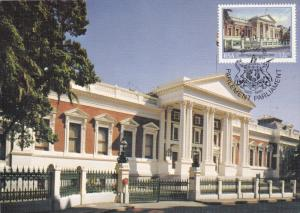 Inauguration of the Cape Parliament Building , Stamp & Postcard , 1985