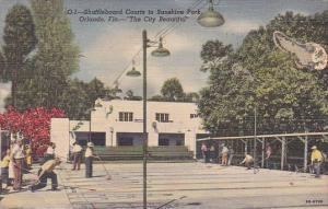 Florida Orlando Shuffleboard Courts In Sunshine Park The Cirt Beautiful 1951