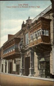 Lima Peru Palacio Colonial c19910 Postcard