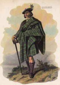 MacLeod Scottish Kilt Fashion Scotland Postcard