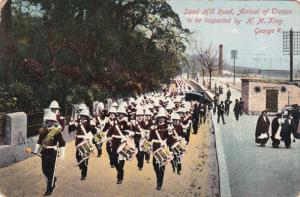 Sand Hill Road , Arrival of Troops to be inspected by H.M.King George V. , PU...