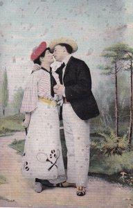 Romantic Tennis Couple, 1900-10s