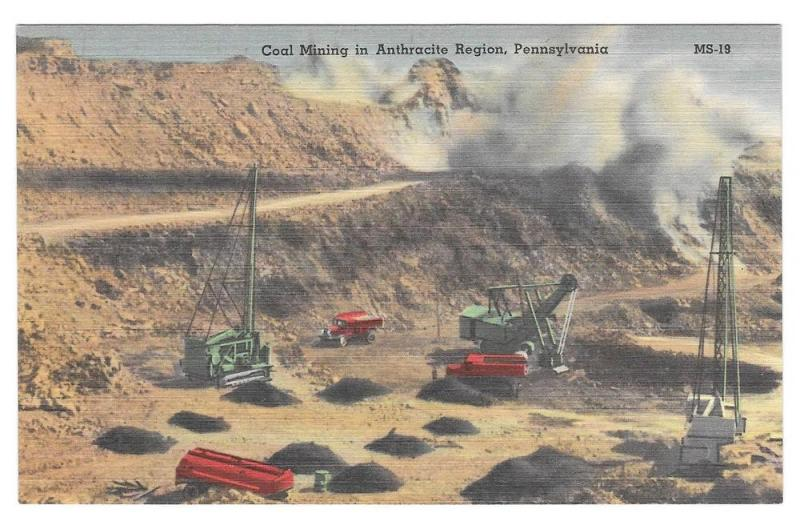 Strip Mining Anthracite Coal Region of Pennsylvania Postcard