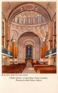 Maryland Annapolis U S Naval Academy Chapel Interior Painting By Ruth Perkins...