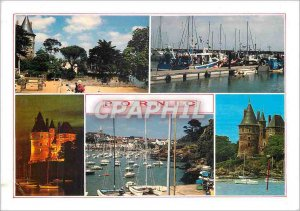 Modern Postcard Pornic Loire Atlantique Seaside resort deemed Chateau day and...