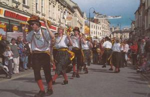 Chippenham Folk Festival Wilkinsons Store Morris Dancers Wiltshire Postcard